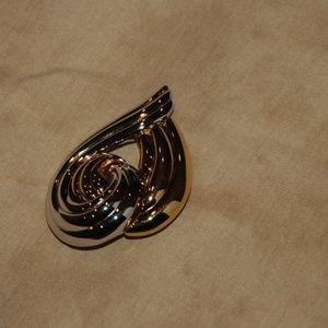 Monet Gold and Silver Tone Shiny Pin